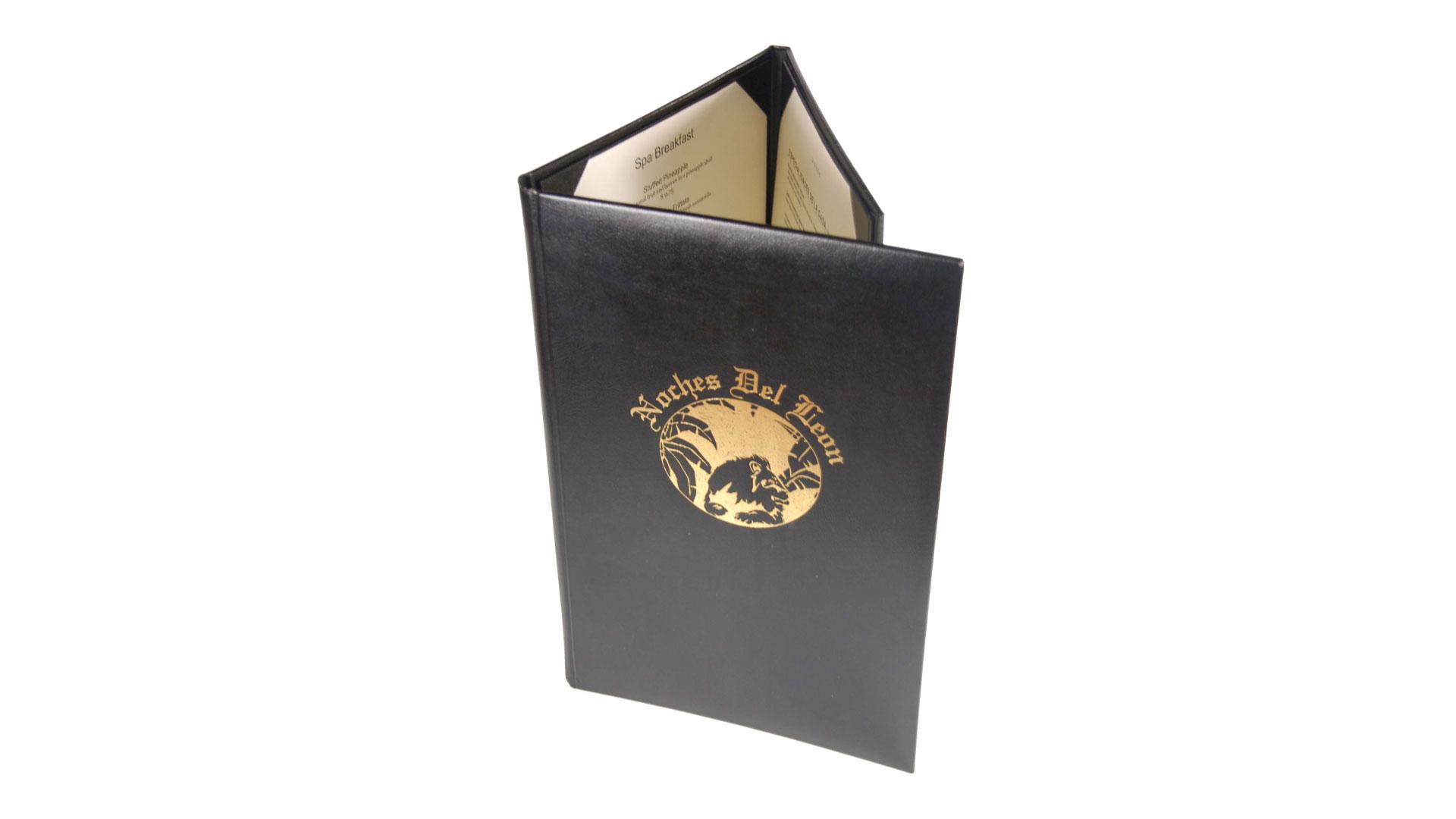 gatefold menu covers monastery hill bindery