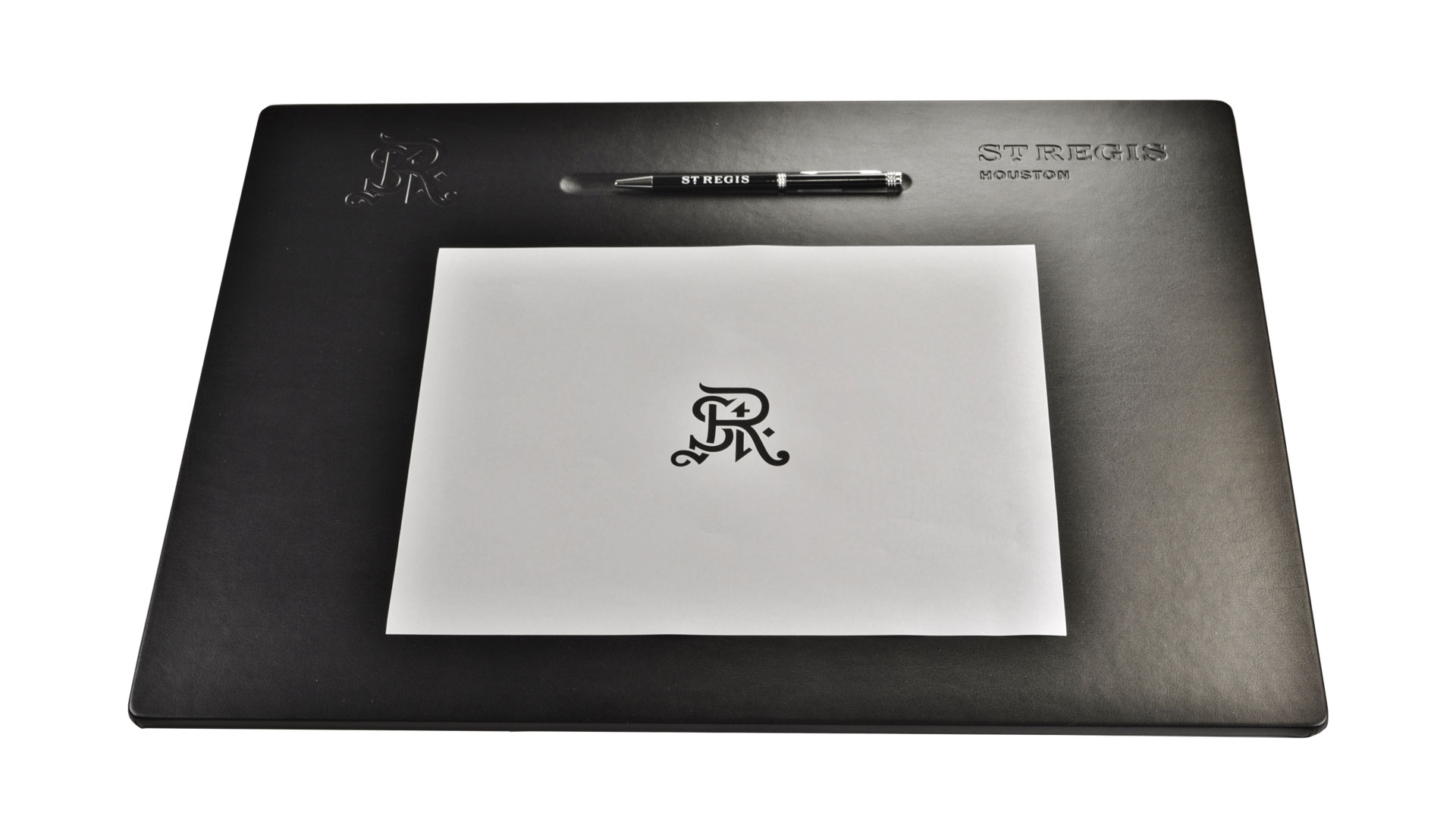 Desk Pad Black With Pen Well
