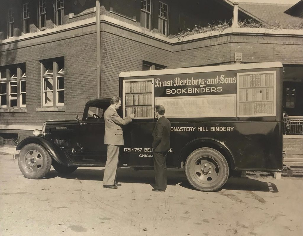 Monastery Hill Bookmobile circa 1950's