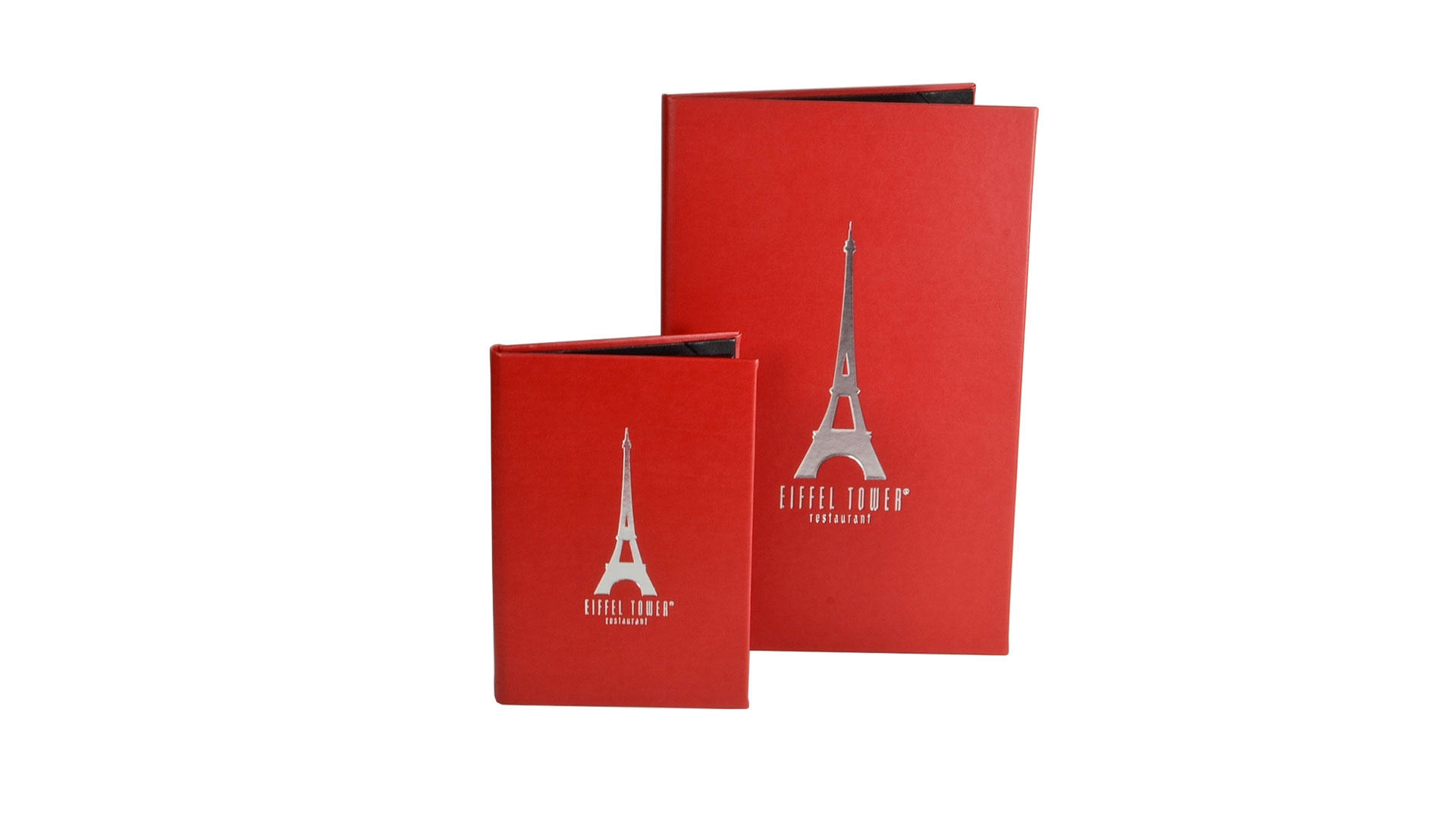 two fold menu covers monastery hill bindery